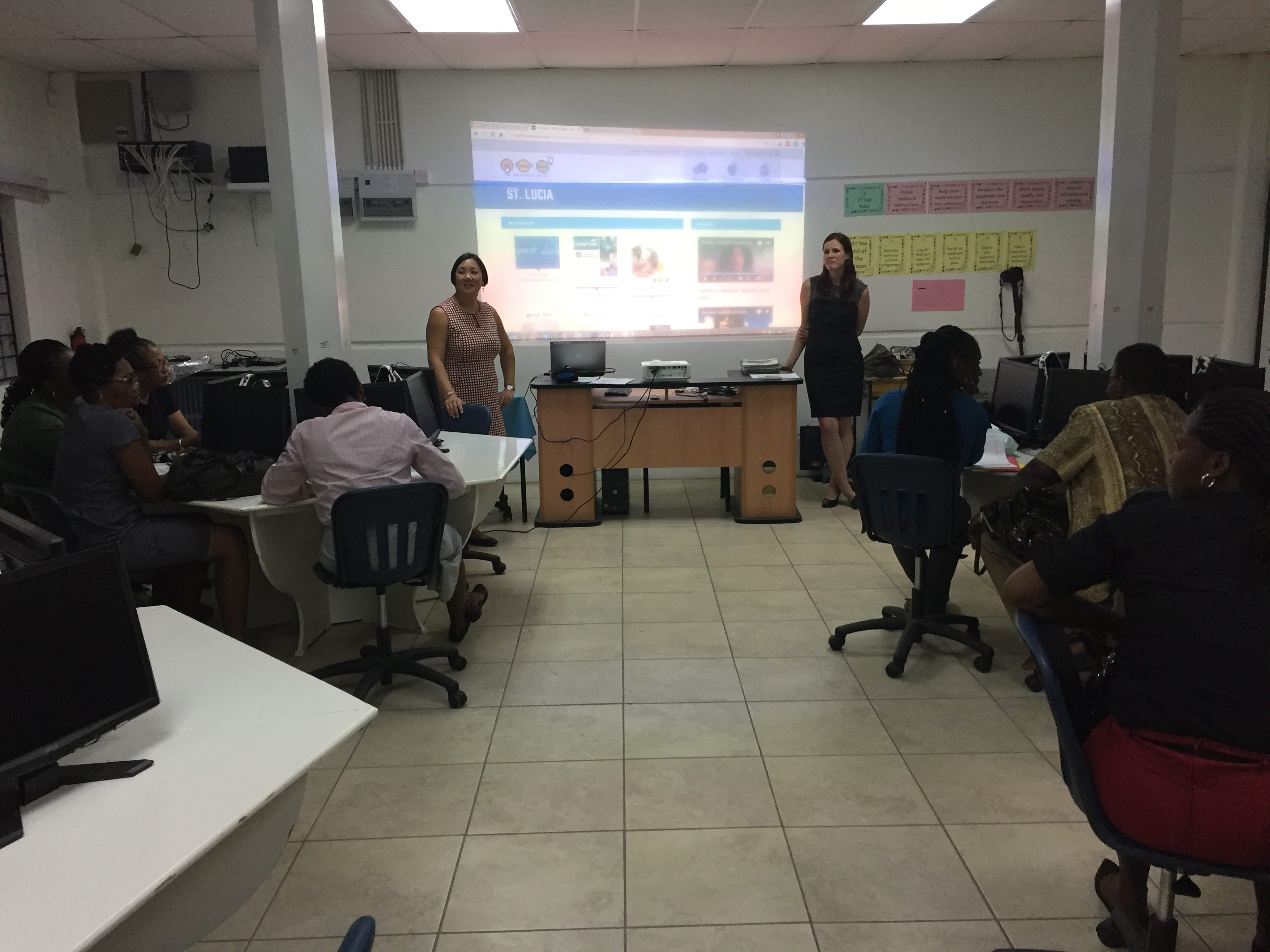 Leticia and Kristina St. Lucia - Global efforts supporting global challenges