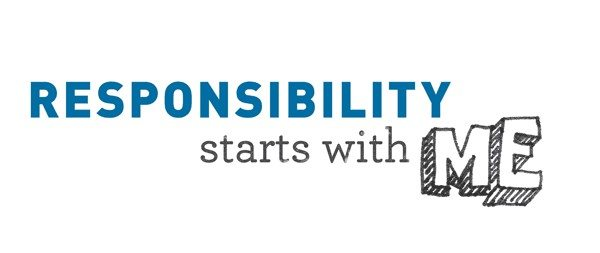 Responsibility Starts with ME box letters
